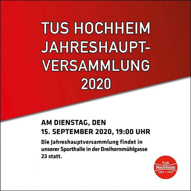 Jahrehauptversammlung2020 beim TuS Hochheim Worms